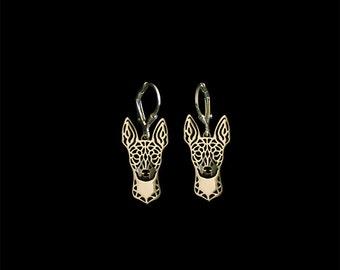 Rat Terrier earrings - gold