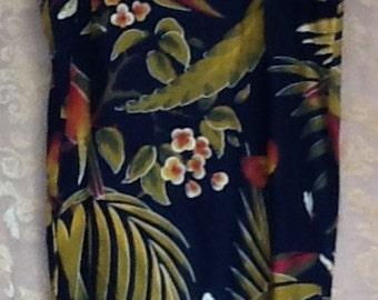 Large West Indies hand printed dress