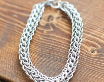 Mens Aluminum Full Persian Chainmaille Bracelet