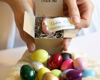 Crack Me! Custom Easter Egg Messages! Easter, Birthday, Prom, Anniversary, Proposal, Godparent, Party Favors, Bridesmaid Proposal