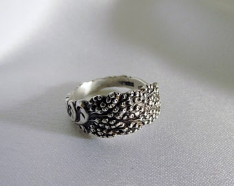 Goldenrod Flower Small Spoon Ring Sterling Floral Jewelry Friendship Ring