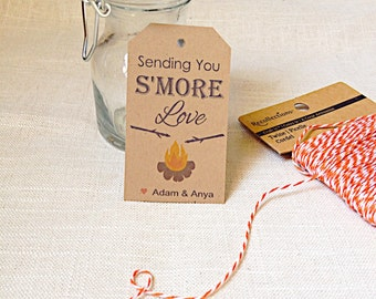 INSTANT DOWNLOAD - Smore Camping Outdoor Woodland Wedding Thank You Cards - Woods Thank You Tags - Happy Trails  - Digital - Printable