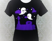 Graveyard Ghosts Halloween Inspired Graphic T Shirt Kawaii Fairy Kei Pastel Goth