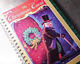 CHRISTMAS CAROL Journal Notebook Scrapbook vintage Book Large