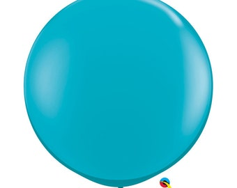 3' Foot TEAL Latex Oversized  Balloon, HUGE Trendy, Wedding, Car, Mermaid, Baby Shower, Girls Bday, Table Decor DIY party Supplies