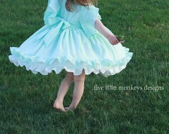 Grace Swiss Dot Dress Sizes 6m, 12m, 18m, 2, 3, 4, 5, 6, 7, 8, 9, 10, 12, 14