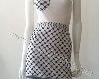 Pencil SKIRT Keffiyeh - Straight skirt KUFFIEH STYLE