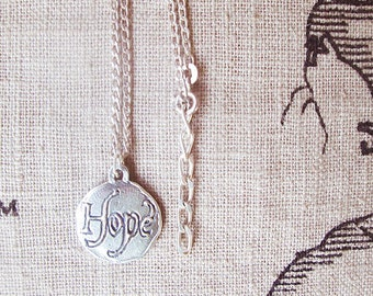 Hope choker necklaces, bird coin choker necklace, inspirational hope with bird silver coin jewelry, unique bird jewelry for best friend gift