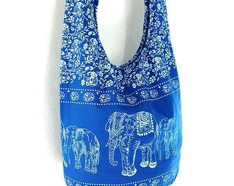 Women bag Handbags Cotton bag Elephant bag Hippie Hobo bag Boho bag Shoulder bag Sling bag Messenger bag Tote bag Crossbody Purse Ocean Blue