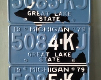 Michigan License Plate Wall Art - 1979