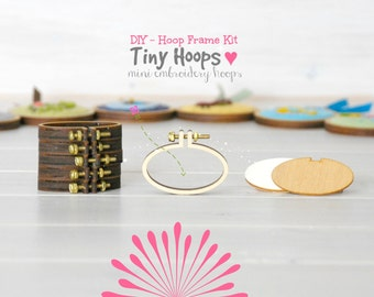 DIY Tiny Embroidery Hoop Frame Kit - 45mm x 27mm - Embroidery Hoop Frame - Oval Miniature Embroidery Hoop - DIY Mini Oval Hoop Kit