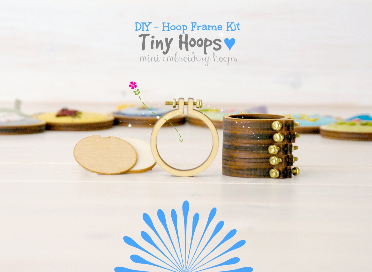 DIY Tiny Embroidery Hoop Frame Kit 164CM Embroidery