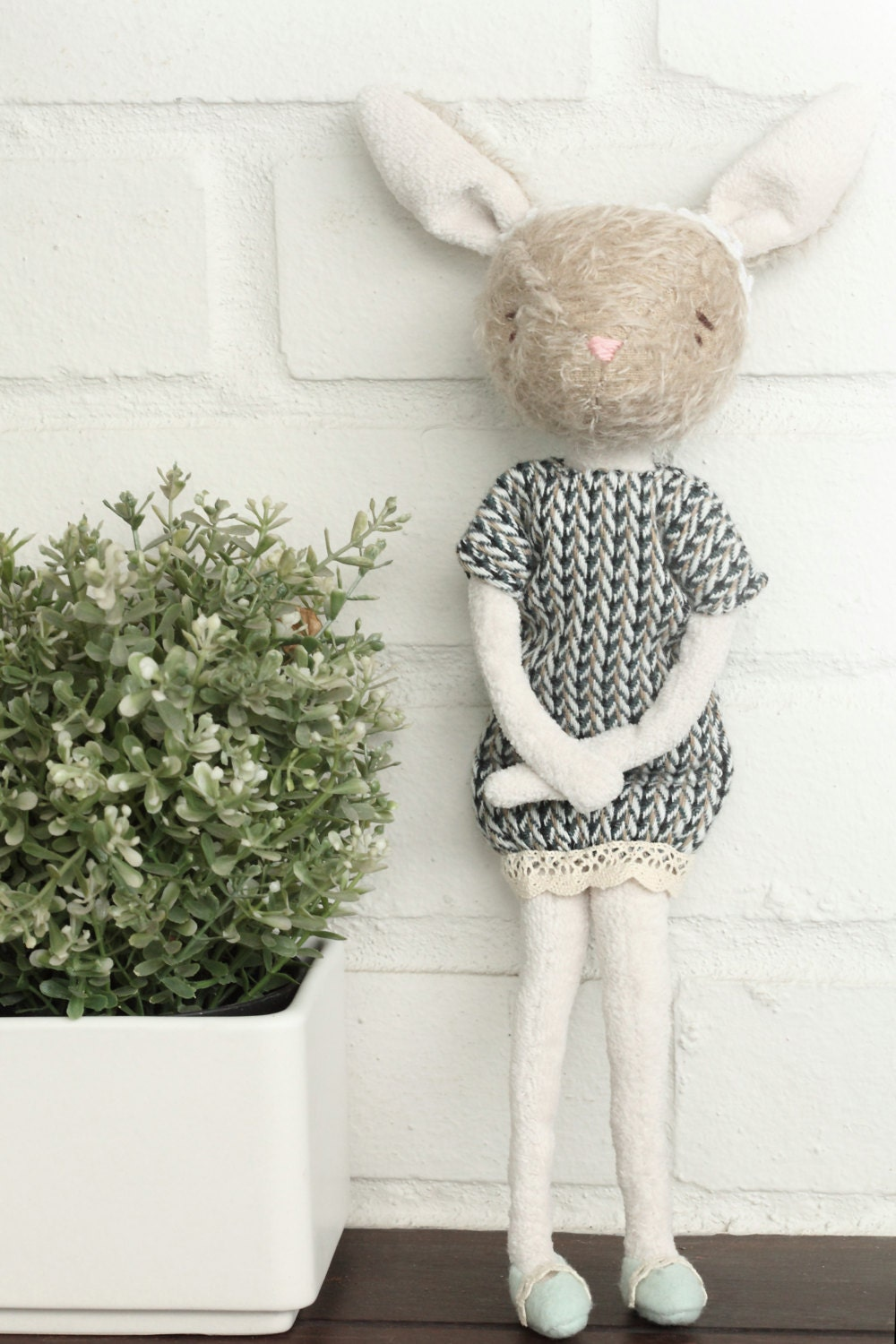 Bunny plush friend home decor bunny collection by for Rabbit decorations home
