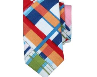 Necktie - Madras Multicolor Plaid - Men's Necktie