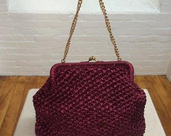 vintage raffia handbag // straw summer bag // 1960s
