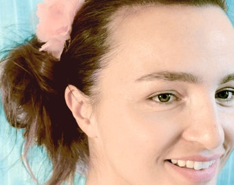 Light Pink Begonia Flower Hair Clip