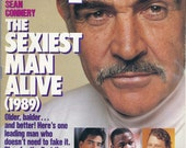 SEAN CONNERY PEOPLE Magazine's Sexiest Man Alive Dec. 18, 1989