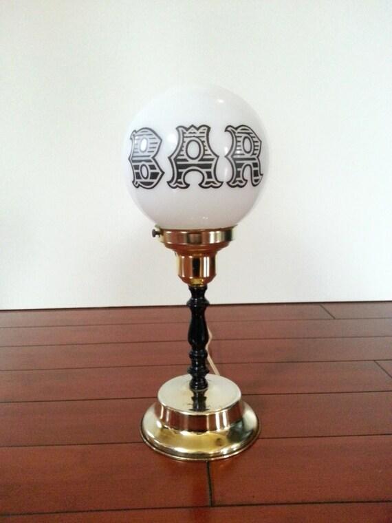 Vintage Bar Globe Lamp