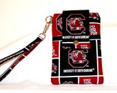 Gamecocks Cell Phone Bag, University of So Carolina  Wristlet or Cross Body Bag,  MP3 Player, iPhone 6 or 6Plus Bag, Digital Camera Bag