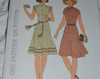 Simplicity 7481 Misses two piece dress Sewing Pattern - UNCUT - SIzes 12 or Size 14