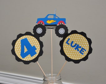 Monster Truck centerpiece, Monster Truck Birthday Party Decorations