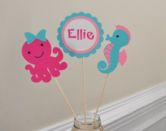 Girly Under the Sea Centerpiece, Girly Under the Sea Party Decorations