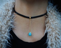 The Hanging Turquoise Choker