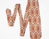 """Vintage """"Egg"""" Pattern Necktie 1960's"""