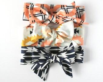 Baby Head Wraps / Turban / Headband / Bow Headband / Toddler Head Wrap / Hair Accessory / Adult Headwrap / Boho / Tie Bandana / Single Wrap