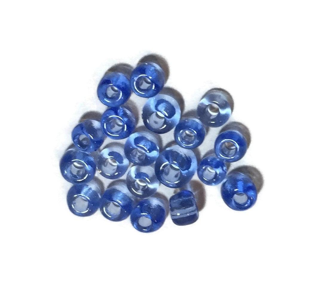Glass seed beads blue seed beads jewelry making beads 8 0 for Natural seeds for jewelry making