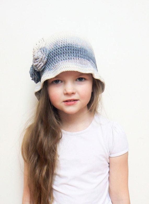 Häkeln Sie Cloche Mädchen Feder Hut Blumenhut häkeln Hut