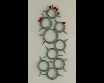 Steel Prickly Pear Cactus Wall Art Sculpture