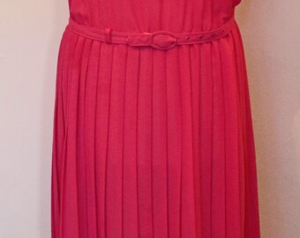 Vintage 1980's St. Michael Marks and Spencer's Pink Dress Size 12