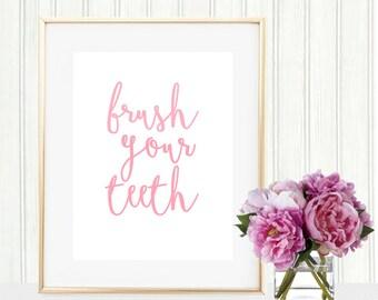 Brush Your Teeth Print