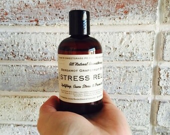 STRESS RELIEF {A Cheerful Citrus Blend of Bergamot, Grapefruit, Adaptogenic, Uplifting,  Supports Healthy Nervous System}