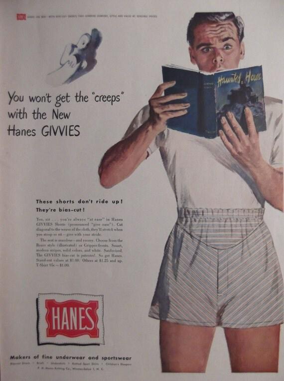 Hanes Underwear Original Vintage Magazine Advertisement Ready