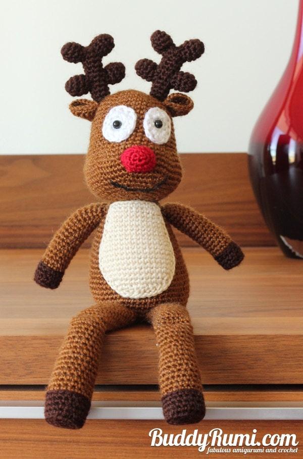 Christmas Reindeer Amigurumi : PATTERN: Rooney Reindeer Amigurumi Crochet Pattern Christmas
