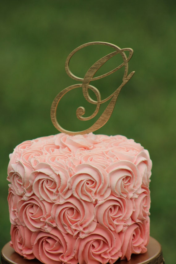 gold wedding cake topper initials gold monogram wedding cake topper wooden cake topper 14836
