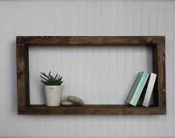 More Colors - Modern RusticWall Shelf - Book Shelf - Shadow Box - Floating Wall Shelf