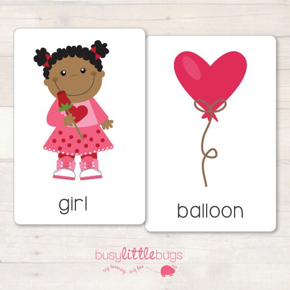 valentines day vocabulary flash cardsbusylittlebugsshop