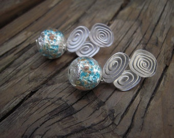 Unique glass earrings