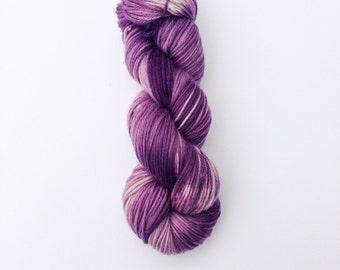 Hand Dyed Yarn, Knitting Yarn, Superwash Merino Wool, 100g/246 yards,