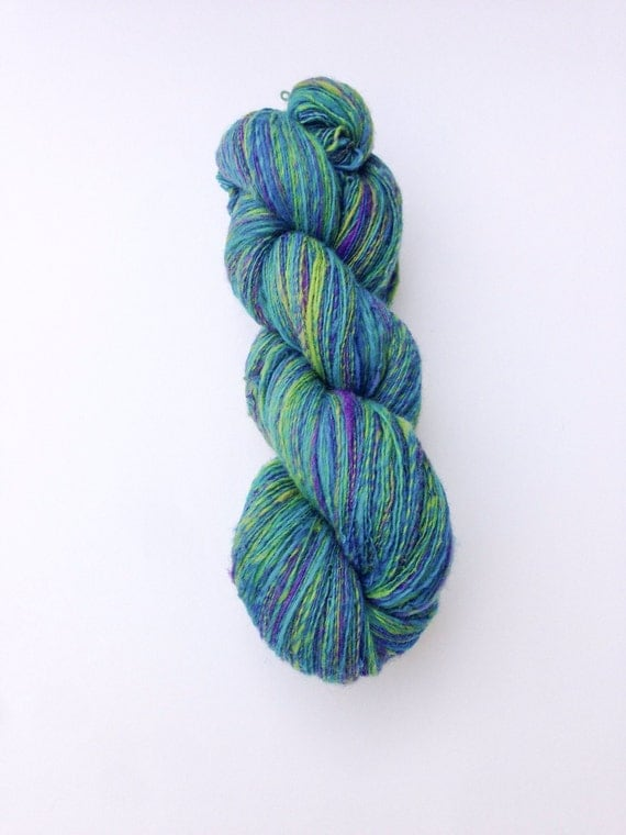 Lace Weight Yarn : Hand Spun Lace Weight Yarn, Knitting Yarn, Potluck Wool, 113g/806 ...