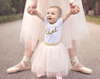 Blush Tulle Skirt, For Baby