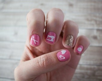 Sewing Themed Nail Stickers / Decals