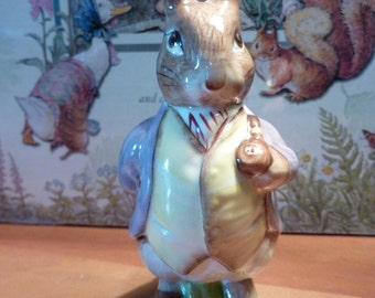 MR. BENJAMIN BUNNY 1989 Beatrix Potter Figurine Royal Albert England