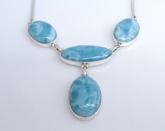 Larimar Necklace, Stunning Larimar Jewelry for Women, Atlantis Necklace