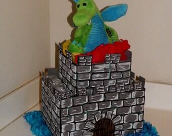 Castle and Dragon Diaper Cake