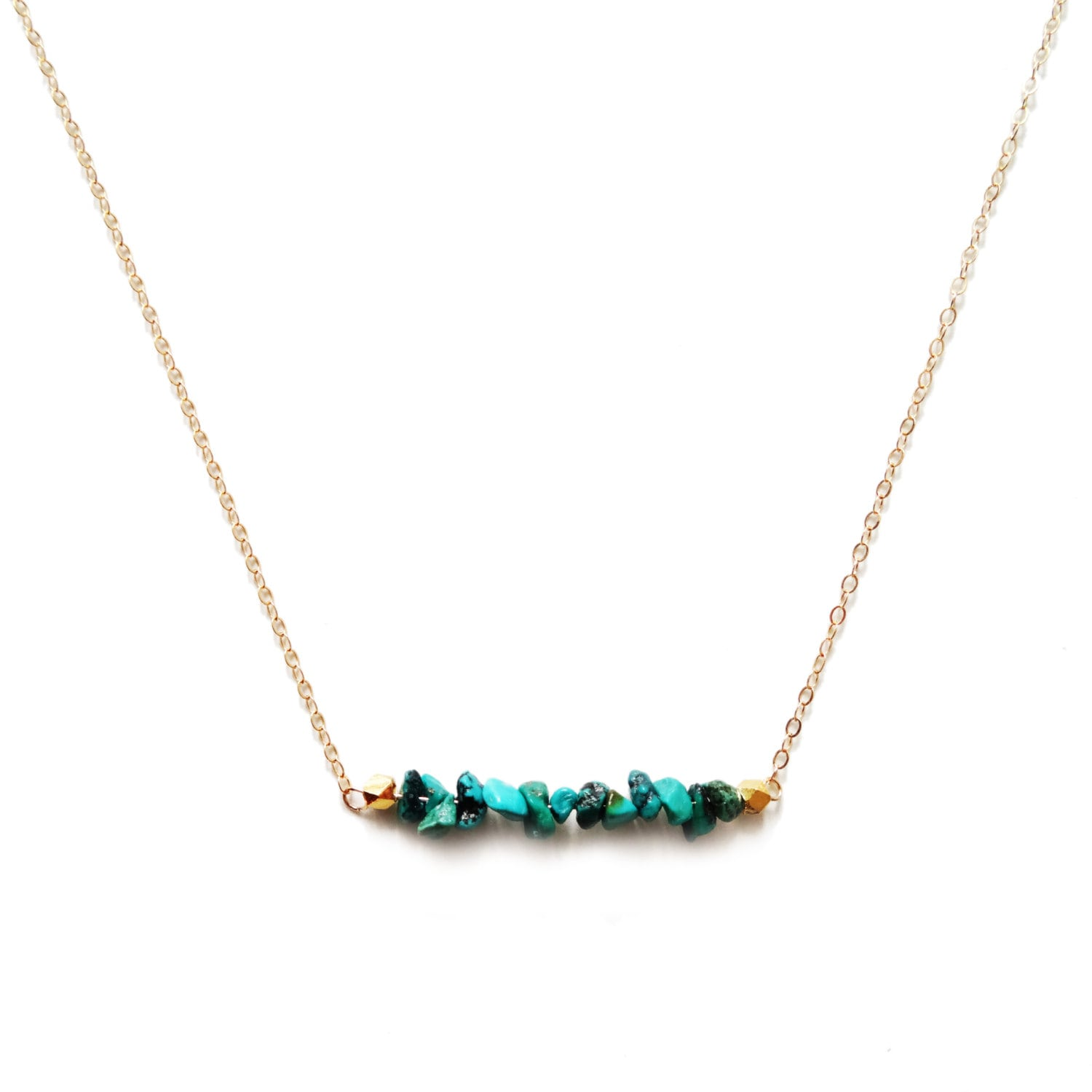 Turquoise Bar Necklace Turquoise Necklace Gold Bar Necklace