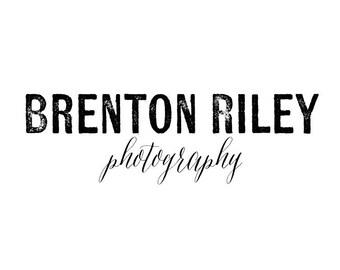 Premade Photography Logo Design - 2 font logo design - Business Branding - Business Branding